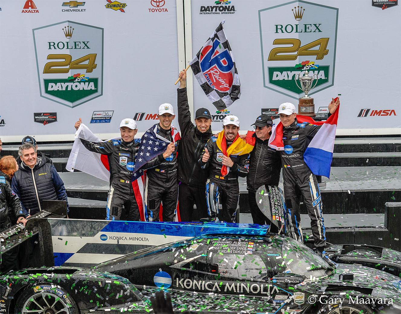 TrackWorthy - Rolex 24_victory podium_winners_#10