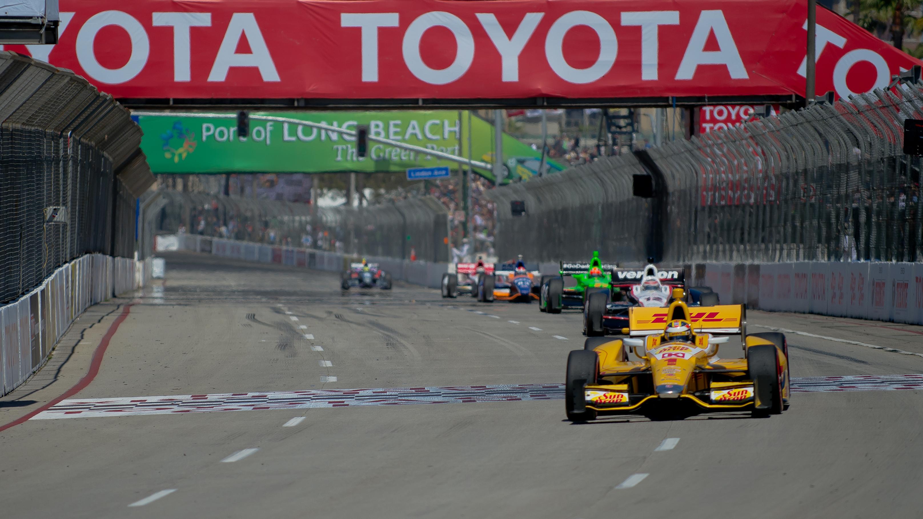 Long Beach Grand Prix Hans device
