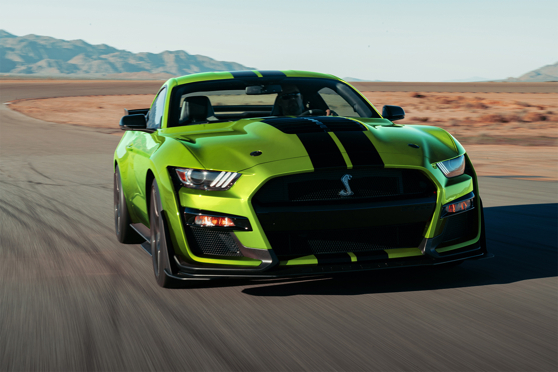 TrackWorthy - 2020 Ford Mustang GT500 in Grabber Lime (2)