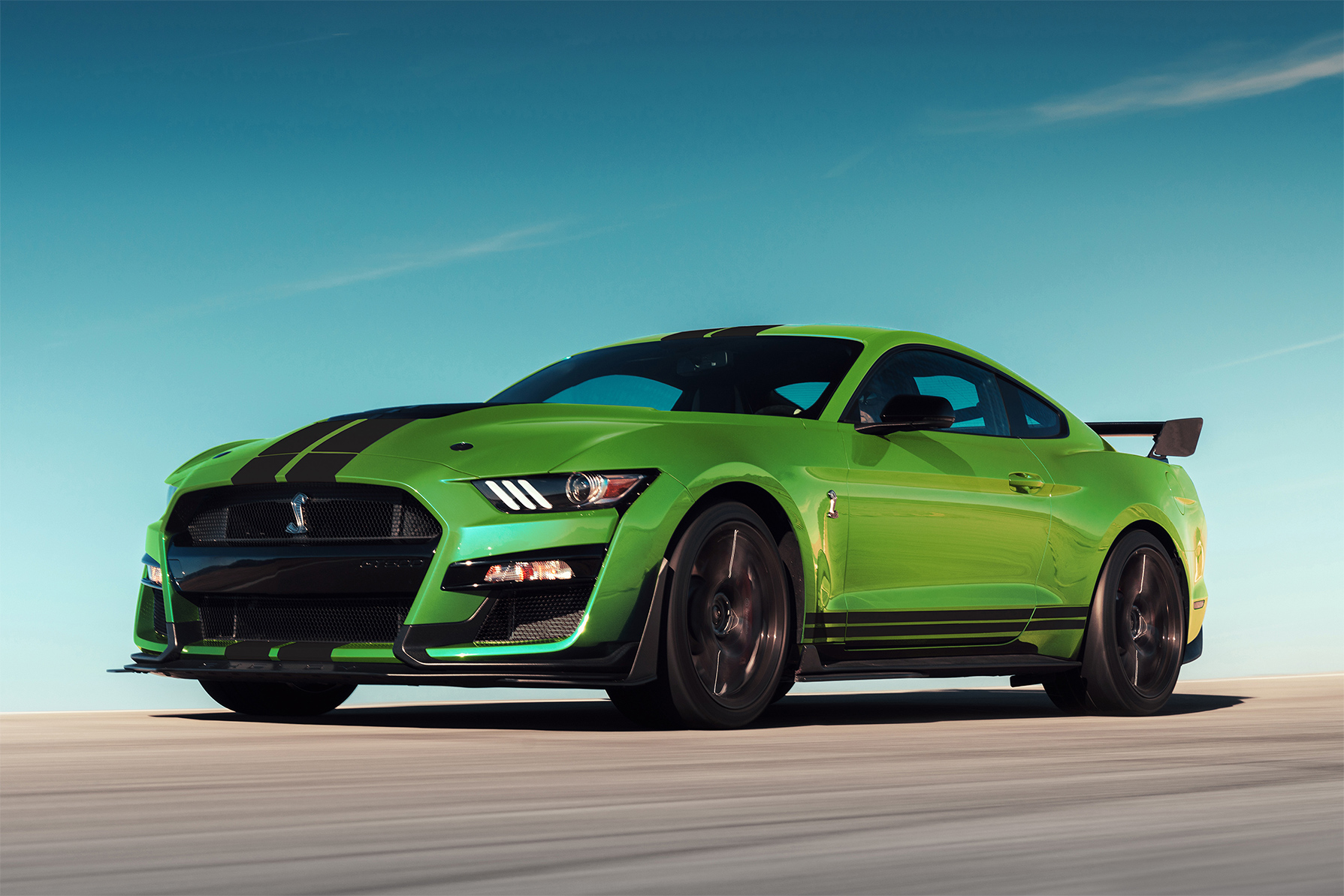 TrackWorthy - 2020 Ford Mustang GT500 in Grabber Lime (3)