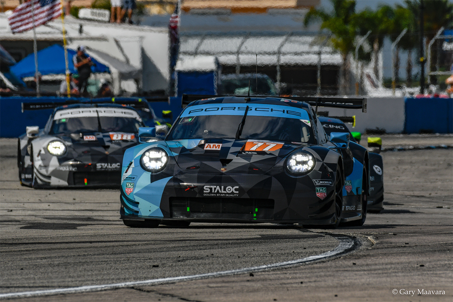 TrackWorthy - FIA WEC_race_hour one_#77_Porsche 911 RSR_ lap one