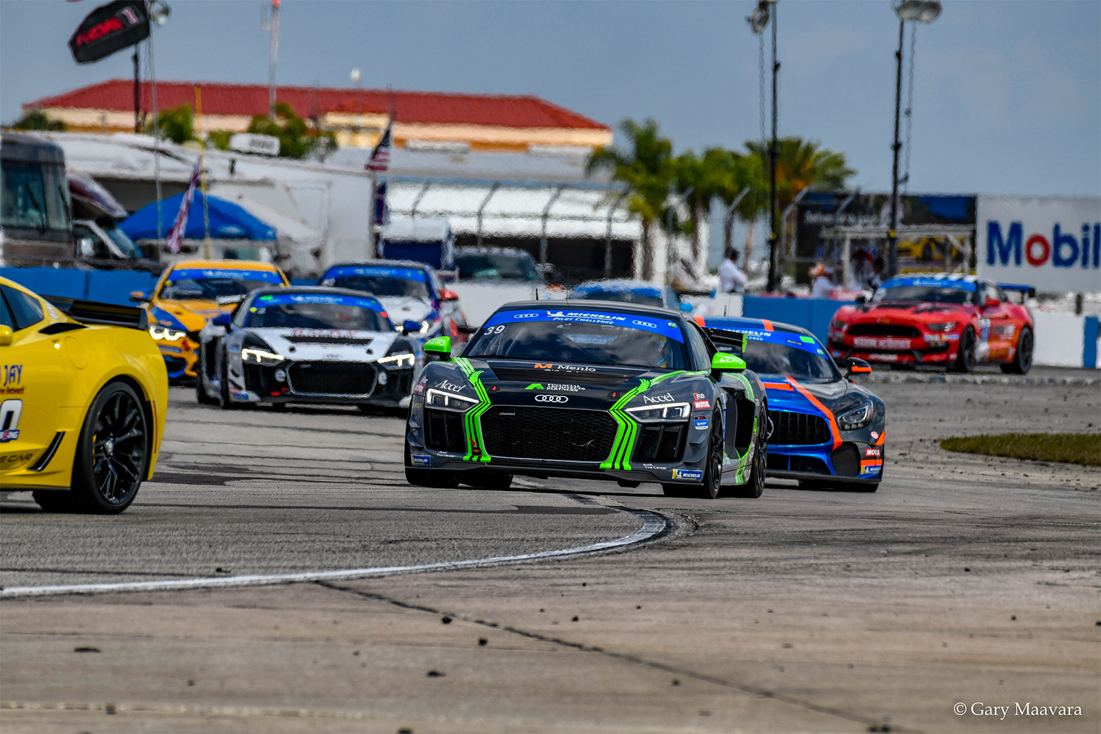 TrackWorthy - Michelin_race_#39_Audi R8 GT4 leads the field on the pace lap