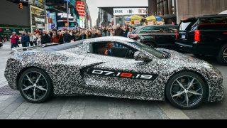 mid engine corvette revealed