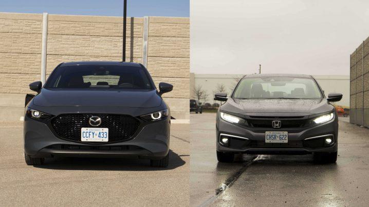 Honda Civic vs Mazda 3