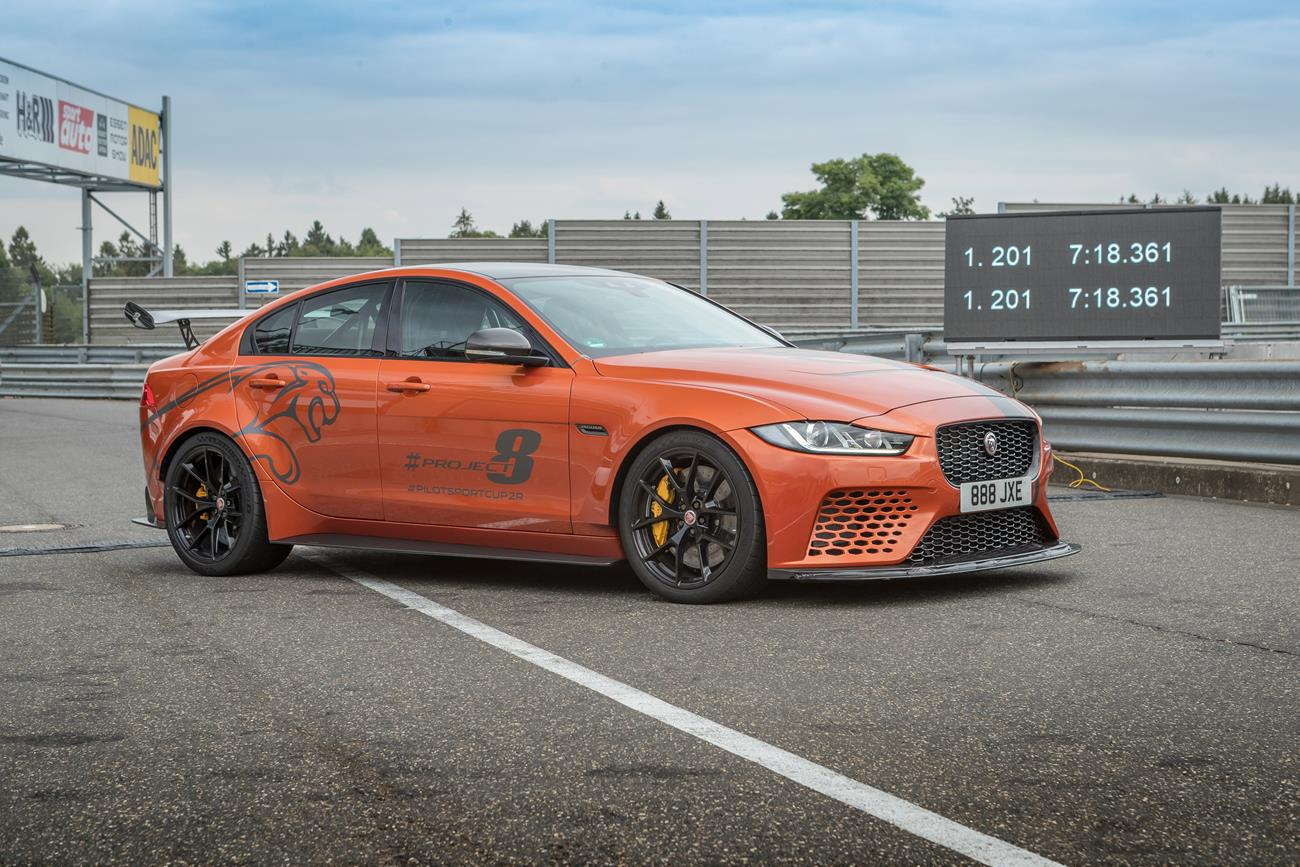 Jaguar XE SV Project 8 Breaks Its Own Nurburgring Lap Record