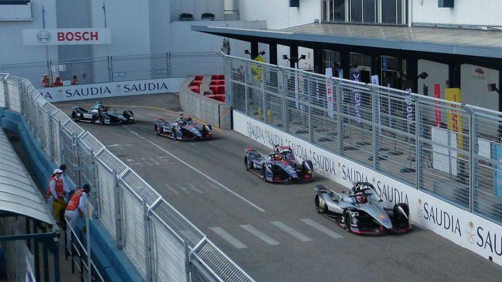 Formula E car race