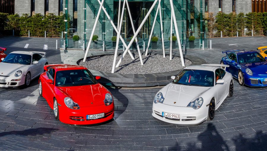 All generations of the Porsche 911 GT3