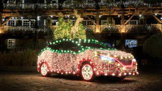 Nissan Tree Lights Up Holidays