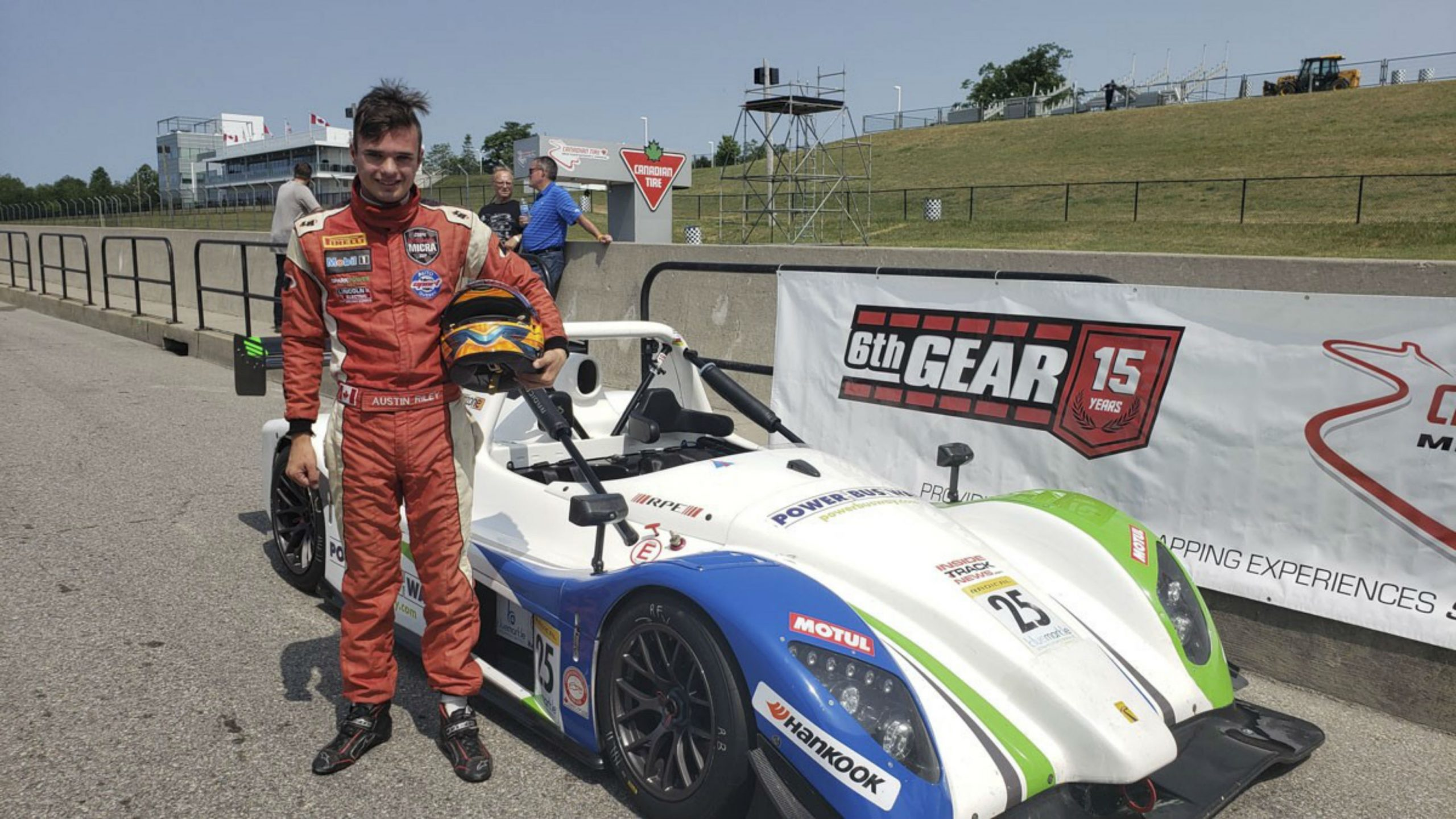 Austin Riley racing efforts are branded as Racing With Autism