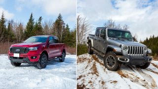2020 Ford Ranger vs 2020 Jeep Gladiator