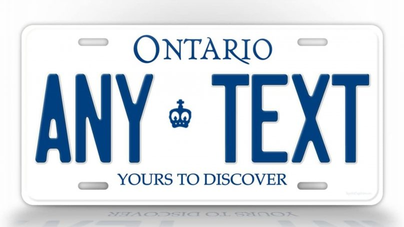 personalized license place