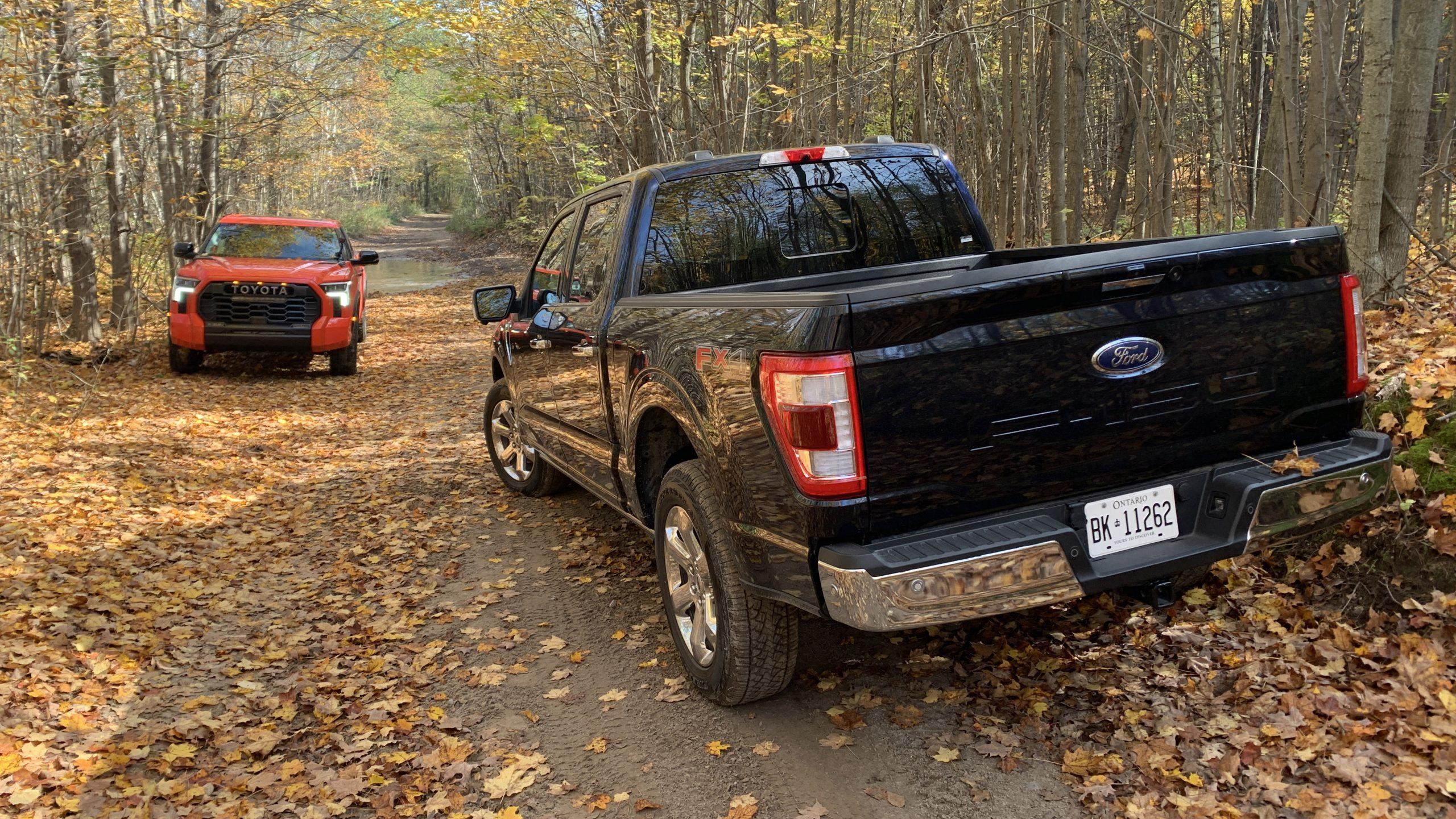 2022 Toyota Tundra vs Ford F150 hybrid
